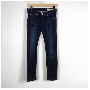 Rag & Bone Skinny Capri Jeans In Southport Wash